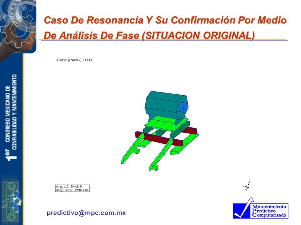 predictivo@mpc.com.mx Caso De Resonancia Y Su Confirmación Por Medio De Análisis De Fase (SITUACION ORIGINAL)