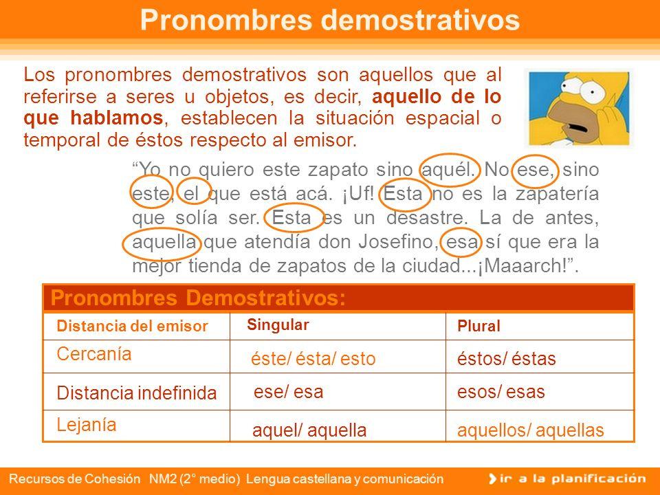 Recursos de Cohesión NM2 (2° medio) Lengua castellana y comunicación Lucía, tengo tantas ganas de hablar contigo, pero como ahora no puedo, mejor te e