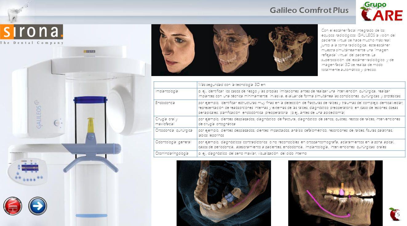 5 Con el escáner facial integrado de los equipos radiológicos GALILEOS la visión del paciente virtual se hace mucho más real: junto a la toma radiológ