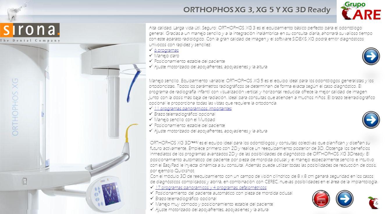 ORTHOPHOS XG 3D ready es el equipo ideal para los odontólogos y consultas colectivas que planifican y diseñan su futuro activamente. Empiece primero c