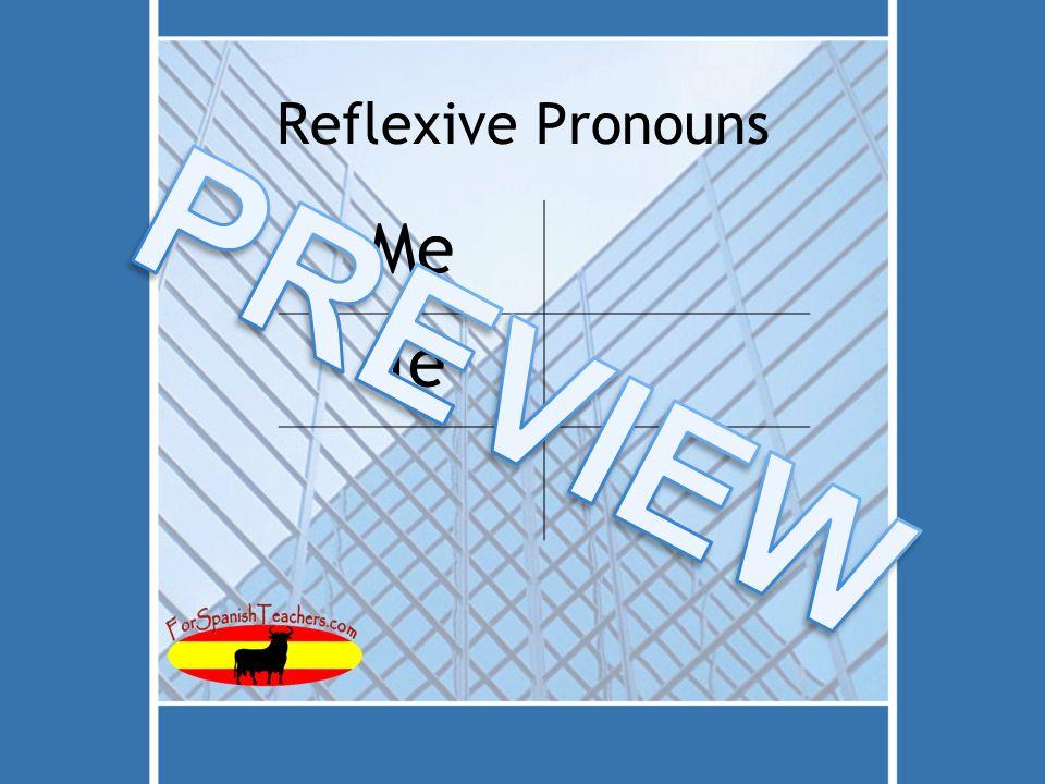 Reflexive Pronouns Me Te