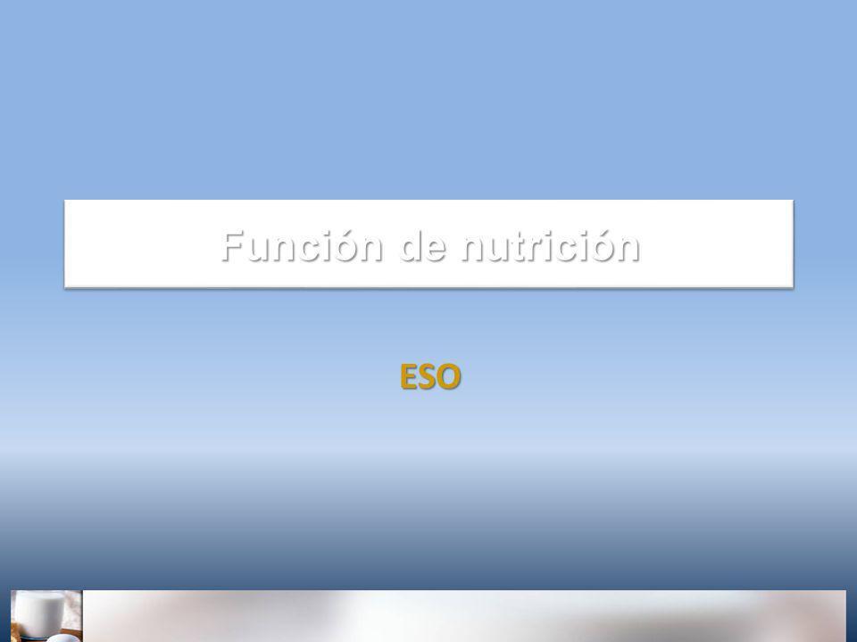Función de nutrición ESO