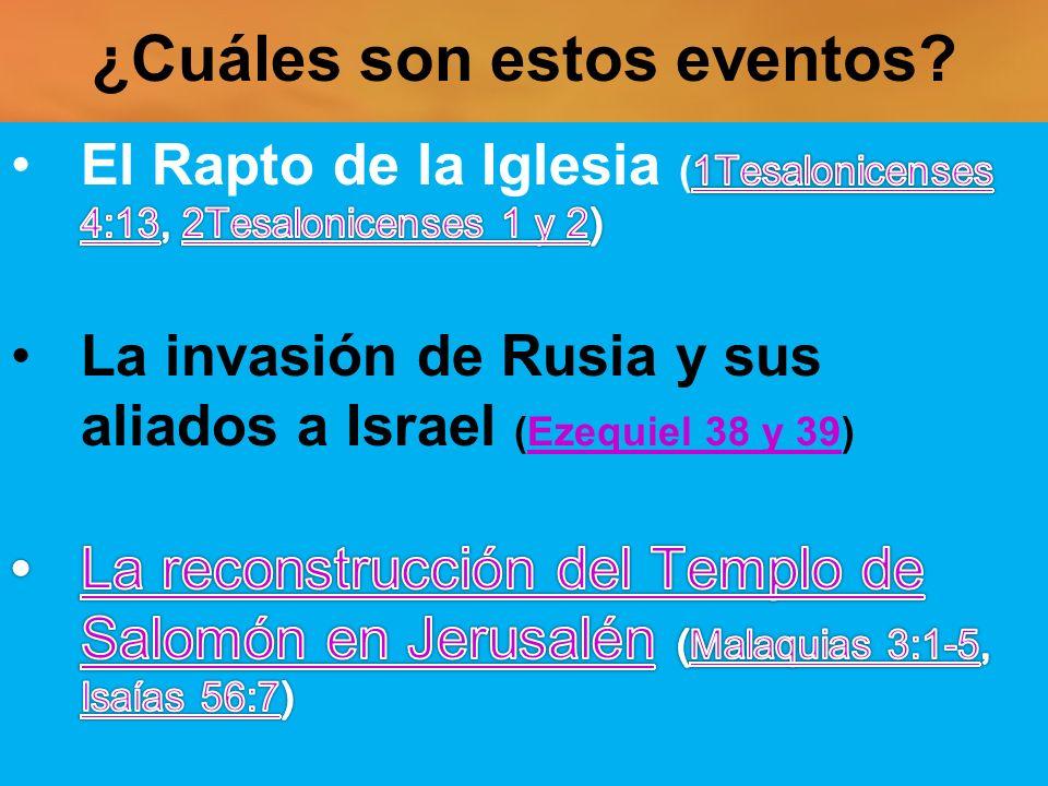 ¿Cuáles son estos eventos?
