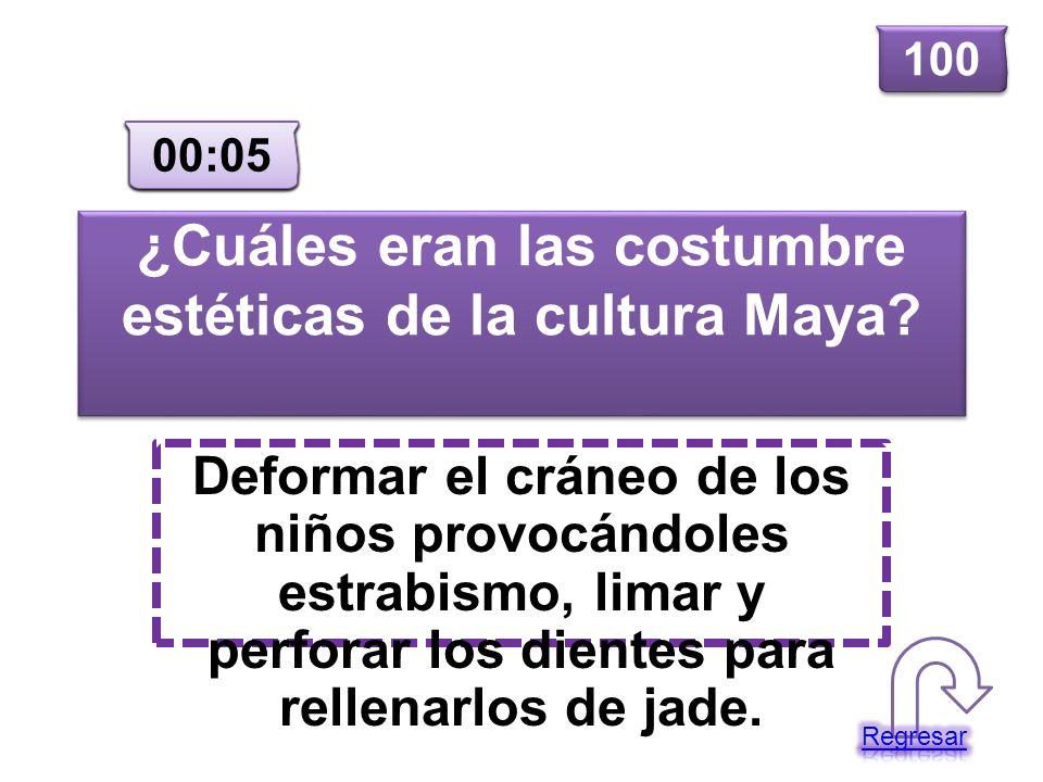 ¿Cuáles eran las costumbre estéticas de la cultura Maya? Deformar el cráneo de los niños provocándoles estrabismo, limar y perforar los dientes para r