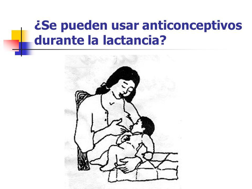 ¿Se pueden usar anticonceptivos durante la lactancia?