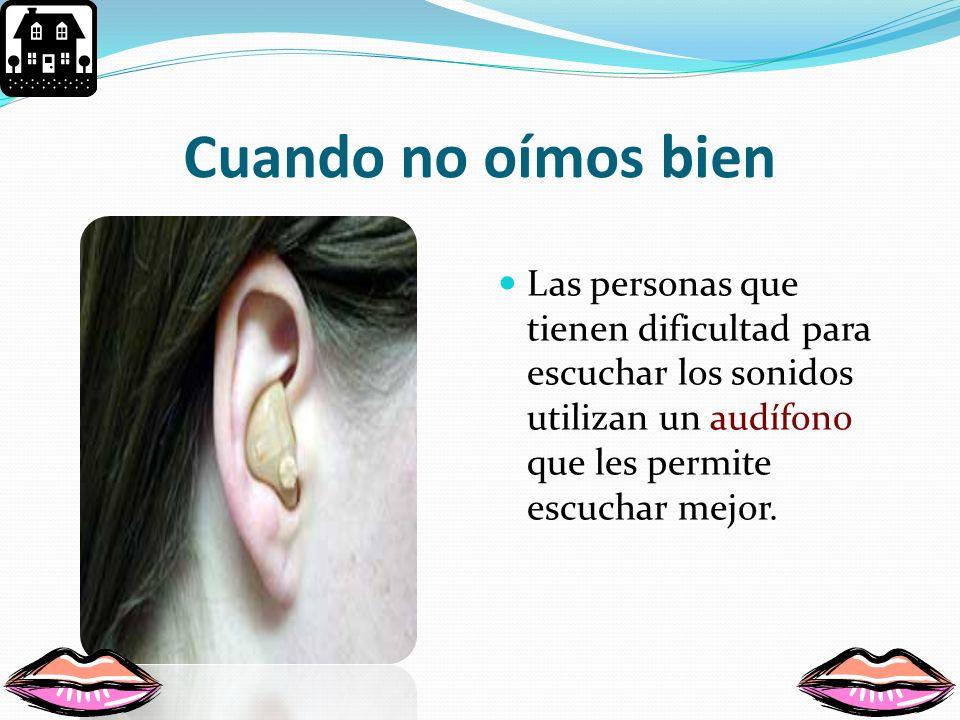 ¿Cómo cuidamos los oídos? Escuchando música a volumen moderado. No introducir objetos en tus oídos. Si sientes alguna molestia, debes visitar al médic