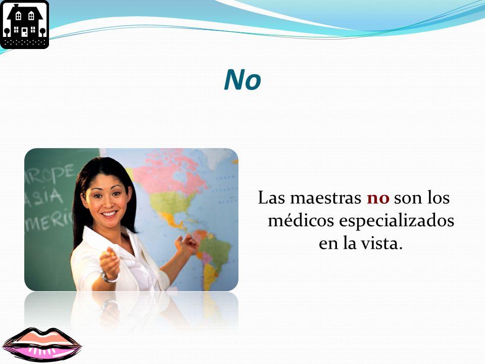 Te equivocaste Las enfermeras no son los médicos especializados en el cuidado de la visión.