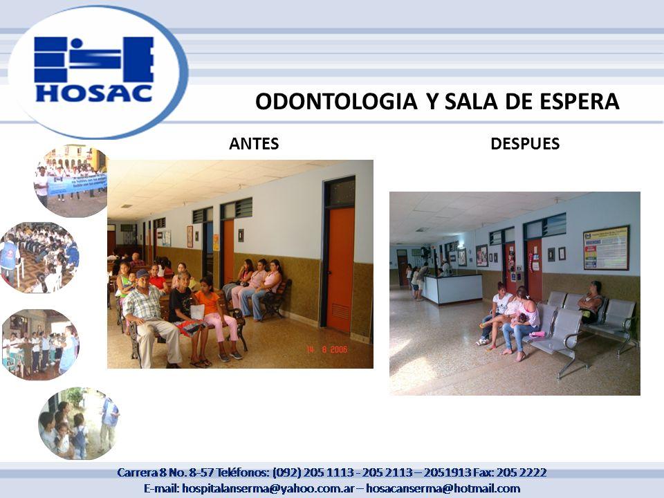 ODONTOLOGIA Y SALA DE ESPERA ANTESDESPUES