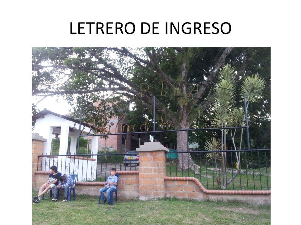 LETRERO DE INGRESO