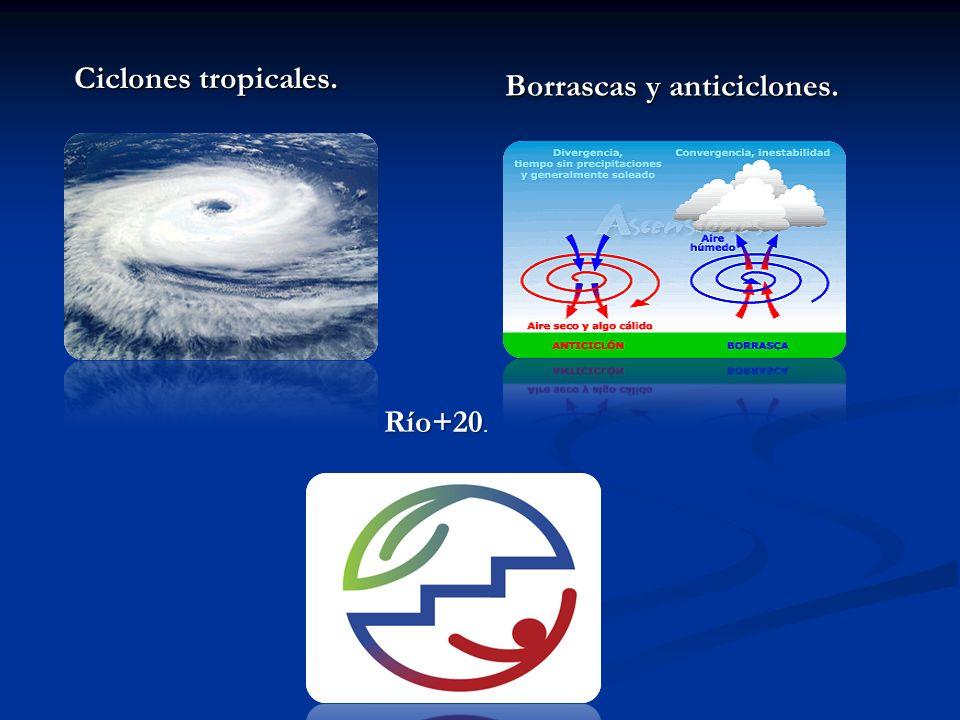 Ciclones tropicales. Borrascas y anticiclones. Río+20 Río+20.