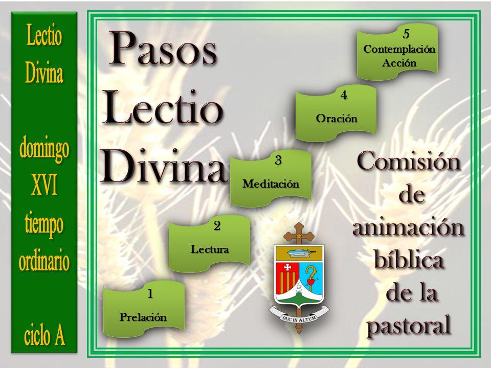 3 Meditación 1Prelación 4 4Oración 5 ContemplaciónAcción 2 Lectura