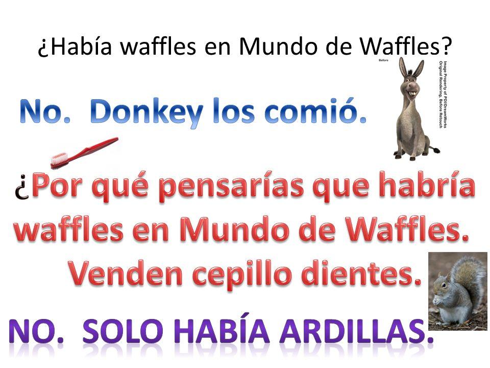 ¿Había waffles en Mundo de Waffles?