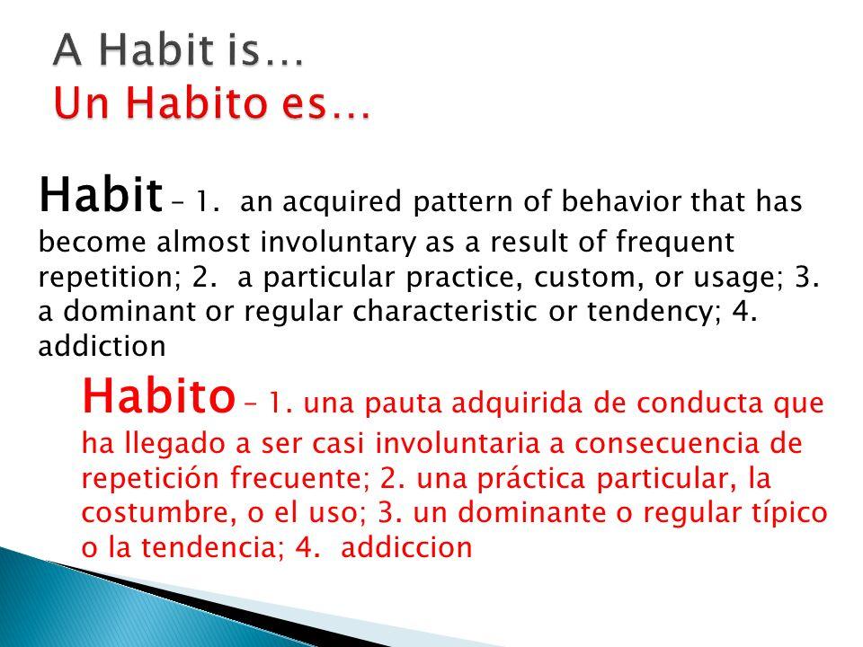 Habit – 1.