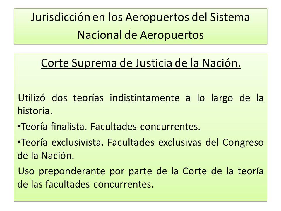 Jurisdicción en los Aeropuertos del Sistema Nacional de Aeropuertos Corte Suprema de Justicia de la Nación.