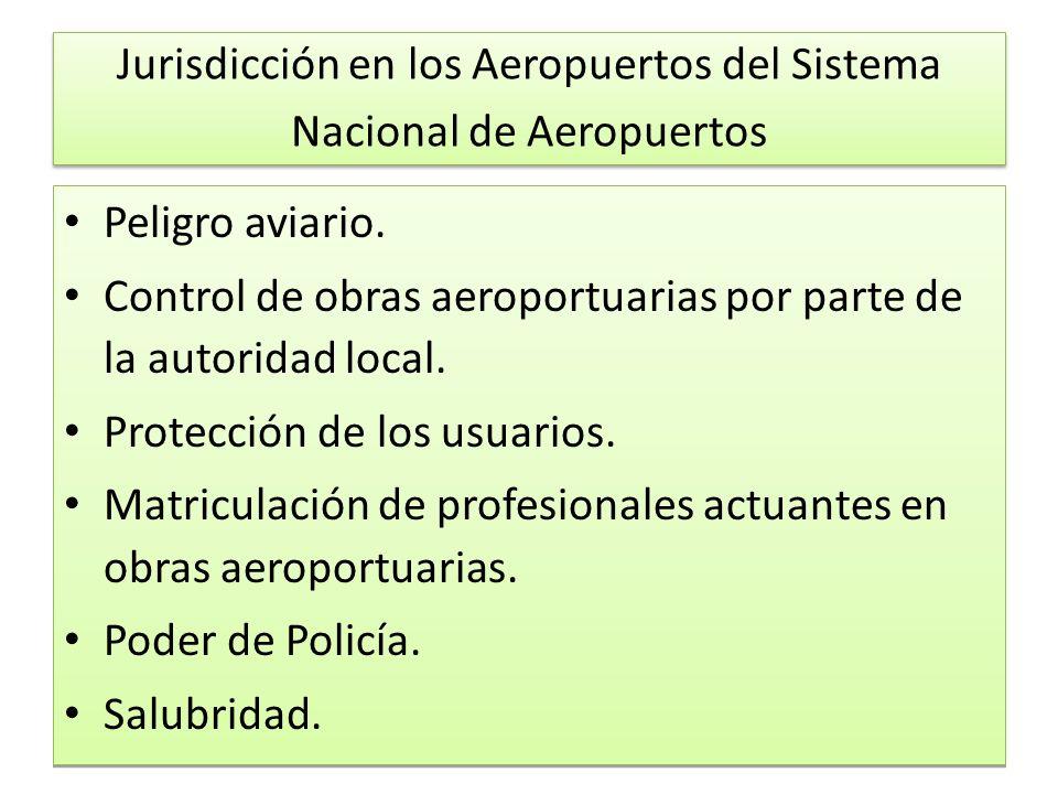 Jurisdicción en los Aeropuertos del Sistema Nacional de Aeropuertos Peligro aviario.