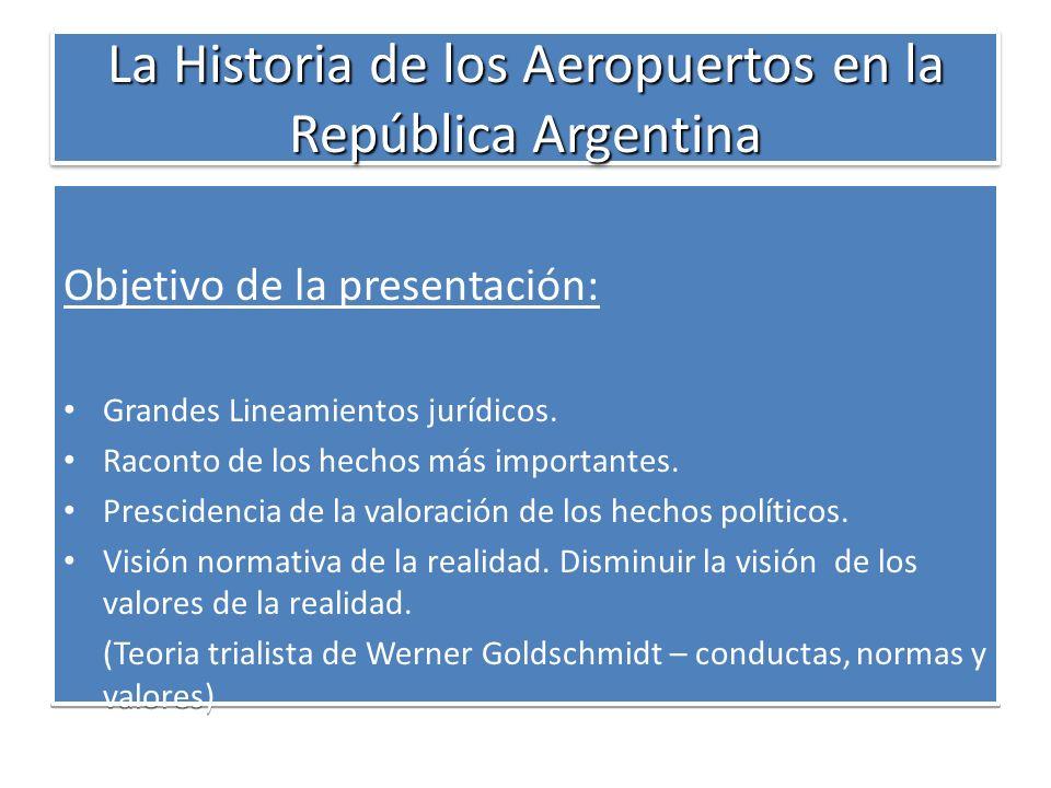 La Historia de los Aeropuertos en la República Argentina El Estado Nacional como impulsor de la actividad aeronáutica era el dueño y creador de las aerolíneas -1930 - LASO Líneas Aéreas del Sudoeste, LANE (Líneas Aéreas del Noreste), ALFA (Aviación del Litoral Fluvial Argentino), ZONDA (Zona Oeste y Norte de Aerolíneas Argentinas - 1945 - FAMA (Flota Aérea Mercante Argentina).