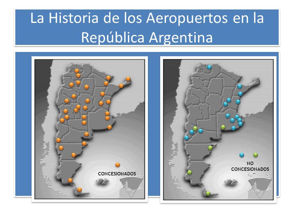 La Historia de los Aeropuertos en la República Argentina CONCESIONADOS NO CONCESIONADOS