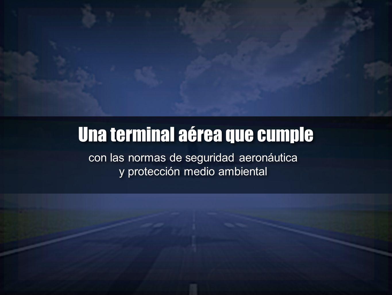 con las normas de seguridad aeronáutica y protección medio ambiental con las normas de seguridad aeronáutica y protección medio ambiental Una terminal