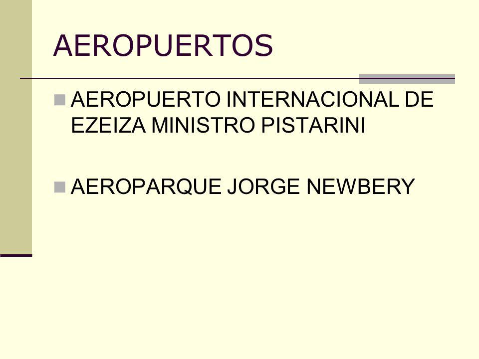 AERÓDROMOS DE USO DE LA AVIACIÓN INTERNACIONAL PRIVADA DON TORCUATO (cerró en enero 2006) SAN FERNANDO (se construyeron nuevos hangares para el traslado de operaciones desde Don Torcuato) ESCOBAR (tierras, disponibles, aprobación del ORSNA) DE USO INSTITUCIONAL LA PLATA