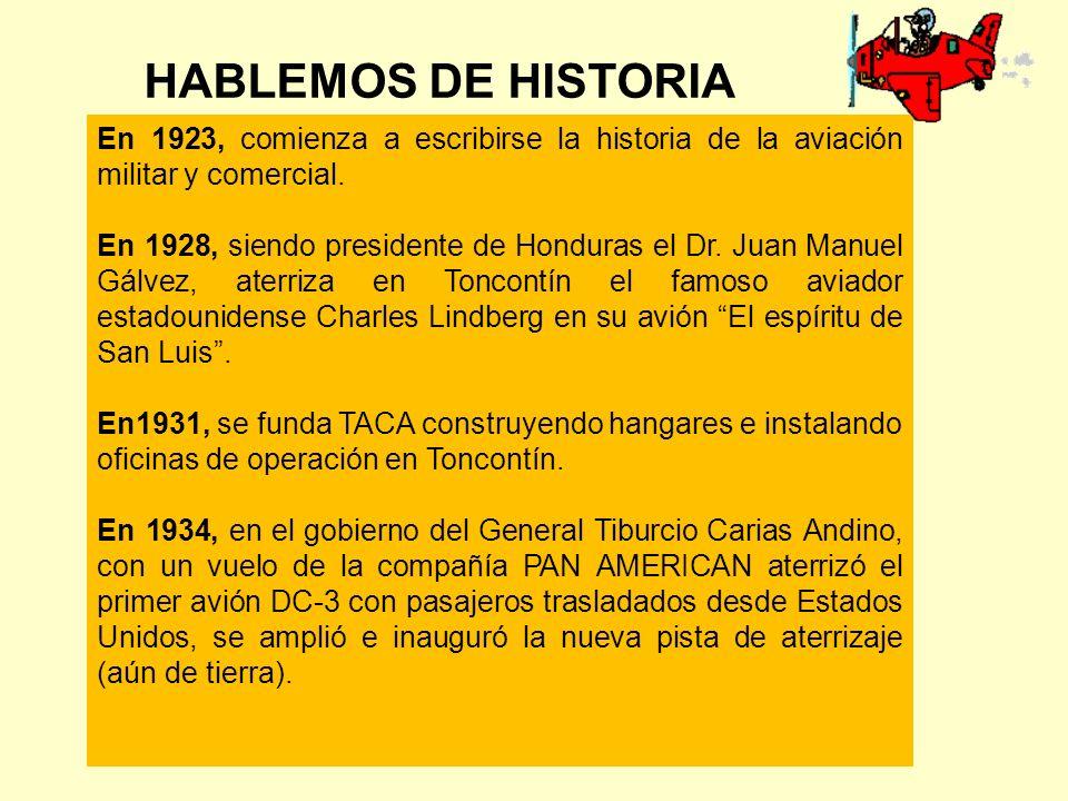En 1923, comienza a escribirse la historia de la aviación militar y comercial.