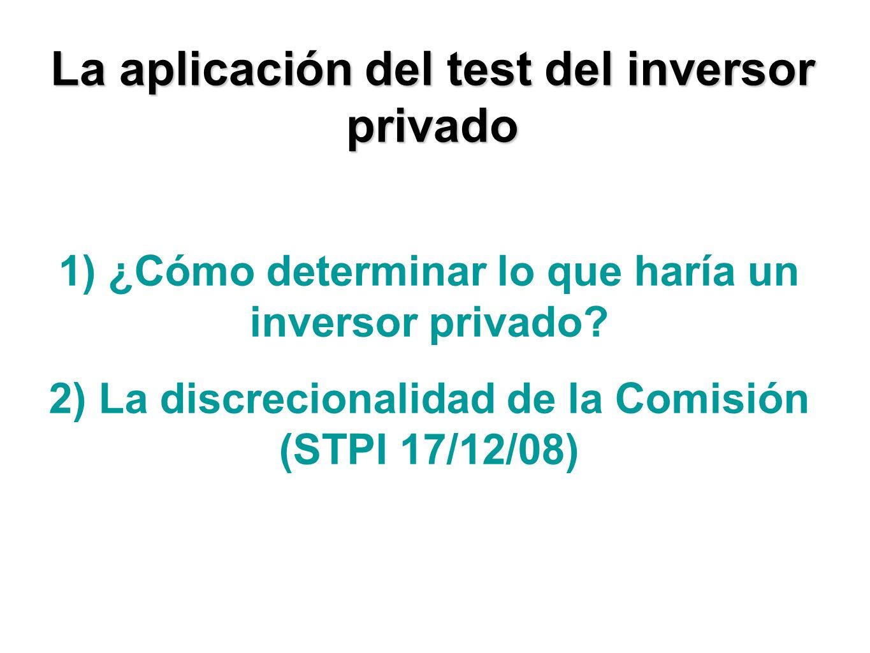 1) ¿Cómo determinar lo que haría un inversor privado.