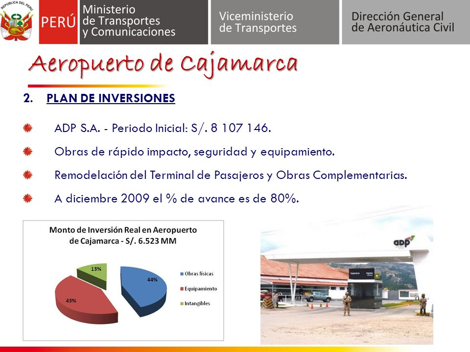 Aeropuerto de Cajamarca 2.PLAN DE INVERSIONES ADP S.A.