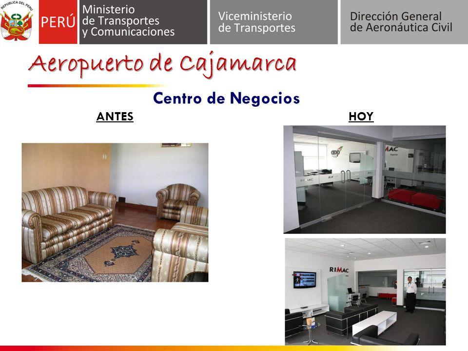 Aeropuerto de Cajamarca ANTES Centro de Negocios HOY