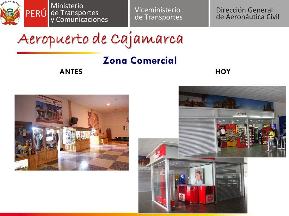 Aeropuerto de Cajamarca ANTES Zona Comercial HOY