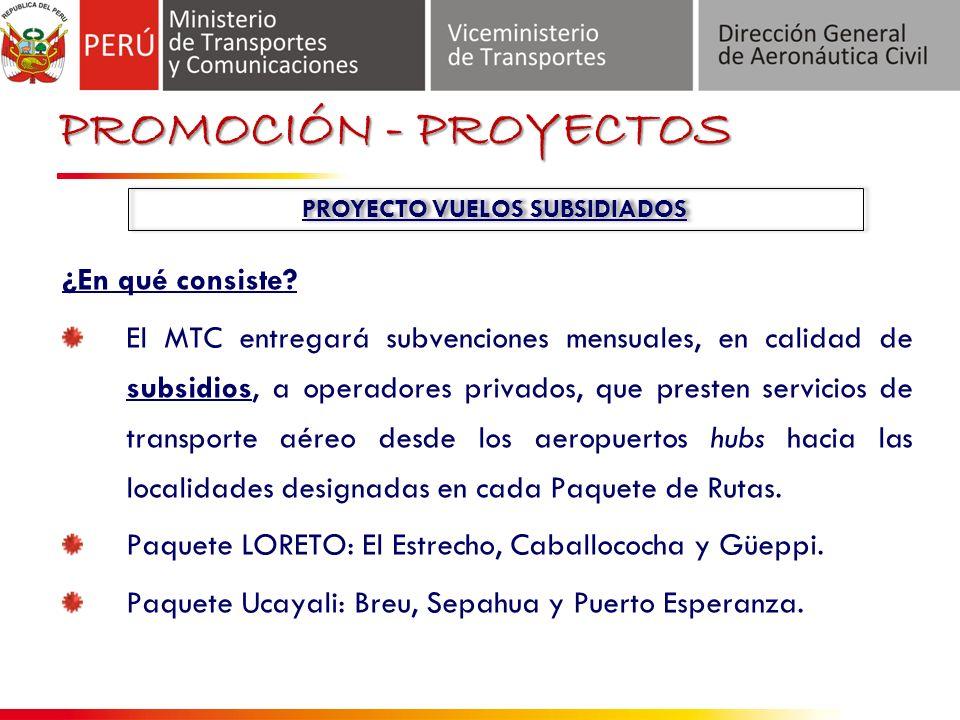 Proyecto de Vuelos Subsidiados ¿En qué consiste.