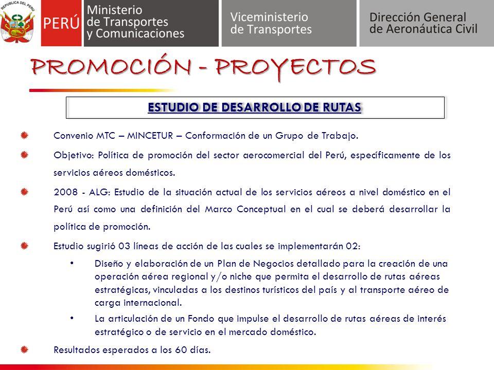 Convenio MTC – MINCETUR – Conformación de un Grupo de Trabajo.
