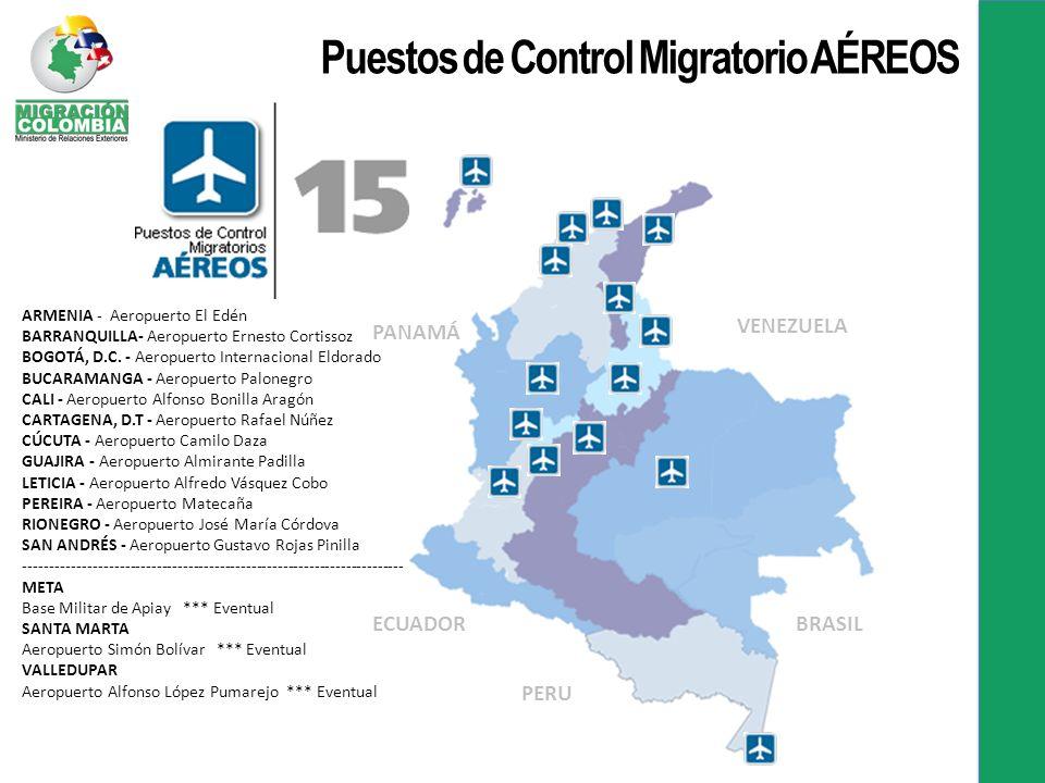 ARMENIA - Aeropuerto El Edén BARRANQUILLA- Aeropuerto Ernesto Cortissoz BOGOTÁ, D.C.