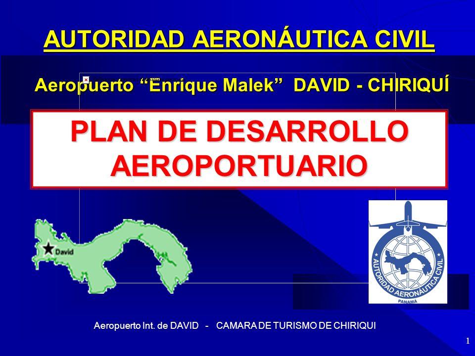Aeropuerto Int. de DAVID - CAMARA DE TURISMO DE CHIRIQUI 1 AUTORIDAD AERONÁUTICA CIVIL Aeropuerto Enrique Malek DAVID - CHIRIQUÍ PLAN DE DESARROLLO AE