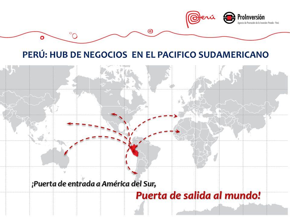 ¡Puerta de entrada a América del Sur, Puerta de salida al mundo! PERÚ: HUB DE NEGOCIOS EN EL PACIFICO SUDAMERICANO