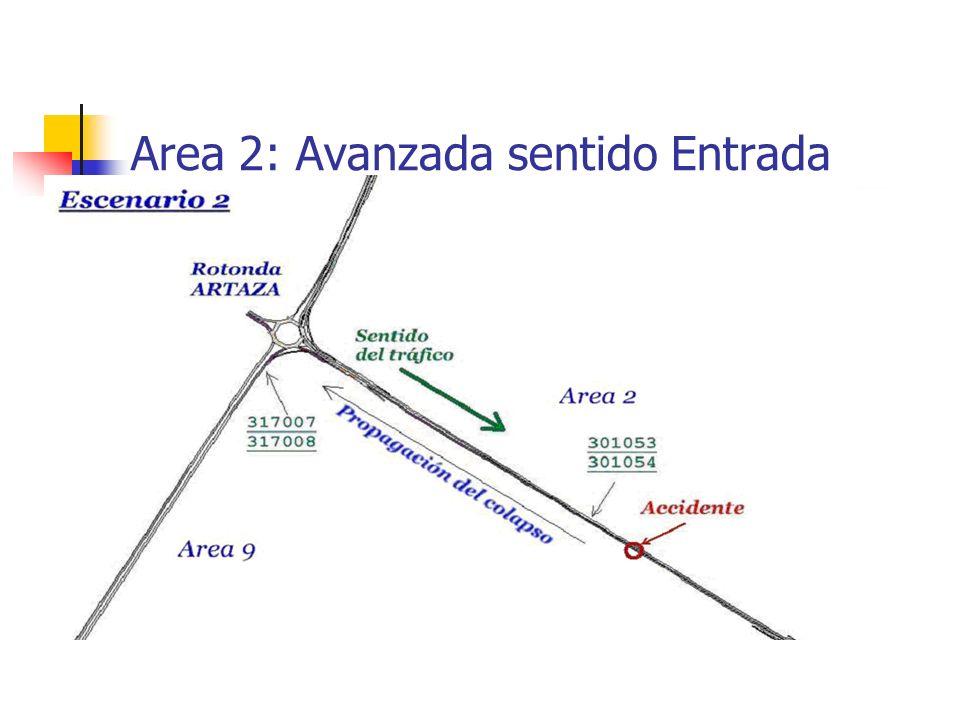 Area 2: Avanzada sentido Entrada