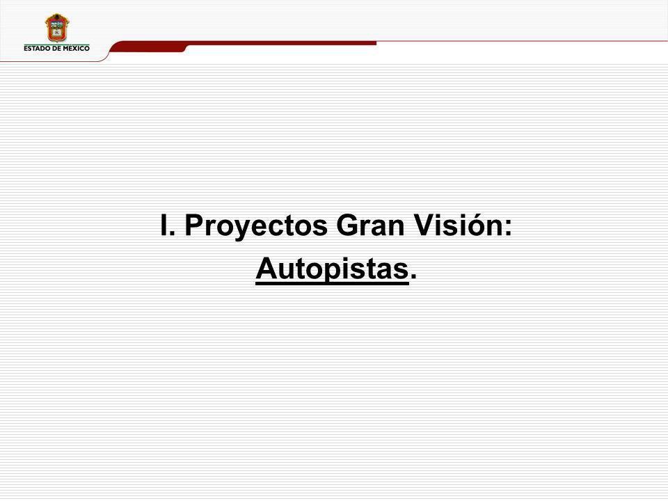 I. Proyectos Gran Visión: Autopistas.