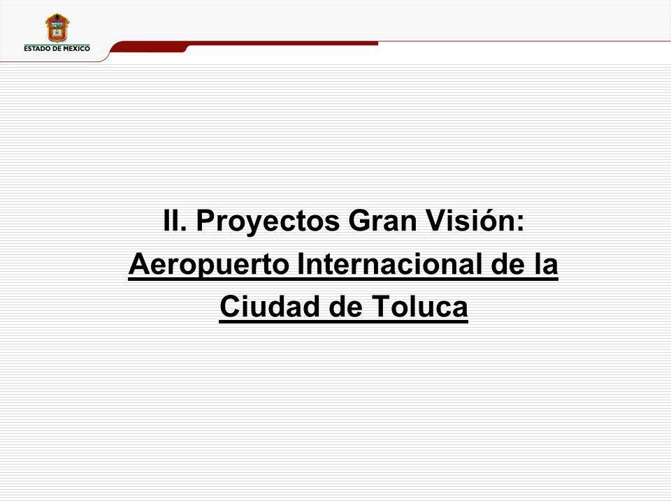 7 Aeropuerto de Clase Mundial Concepto de Bajo Costo El Aeropuerto de Toluca nace como Aeropuerto Concesionado de vuelos comerciales a partir de la Administración del Gobernador Enrique Peña Nieto.