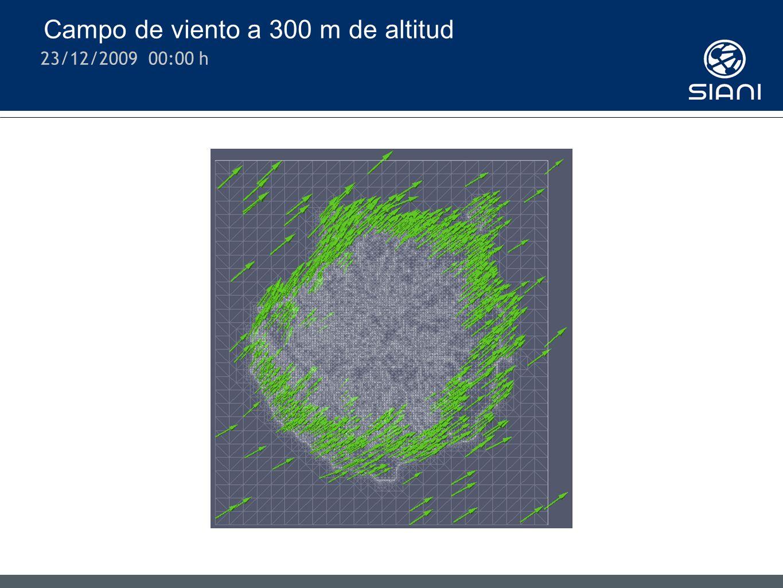 Campo de viento a 300 m de altitud 23/12/2009 00:00 h