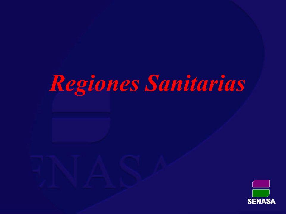 Regiones Sanitarias SENASA