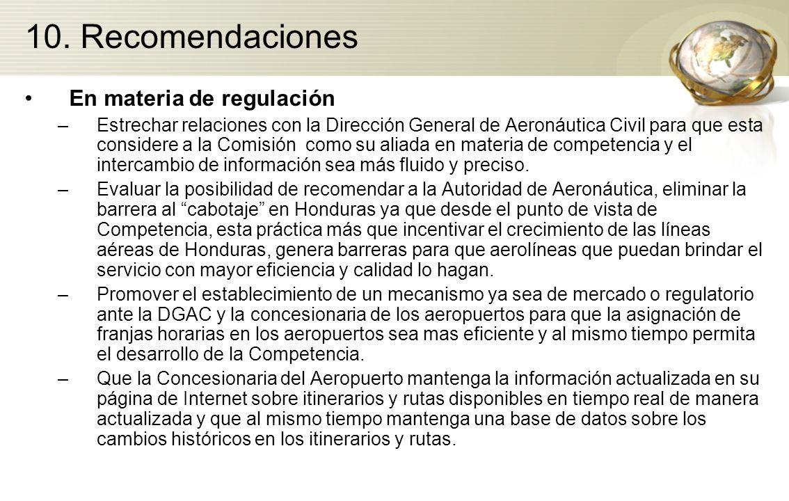 En materia de regulación –Estrechar relaciones con la Dirección General de Aeronáutica Civil para que esta considere a la Comisión como su aliada en m