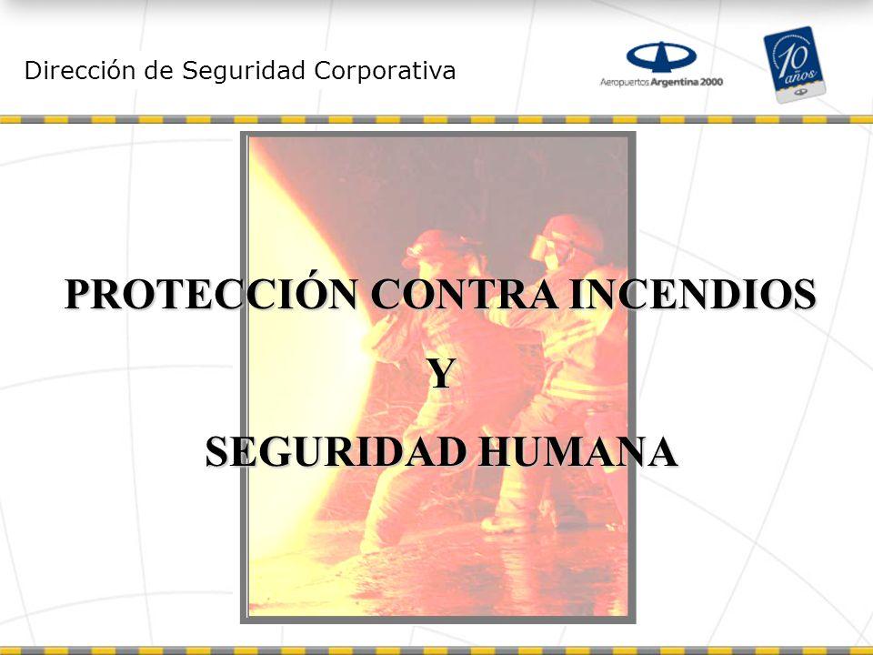 Dirección de Seguridad Corporativa PROTECCIÓN CONTRA INCENDIOS Y SEGURIDAD HUMANA