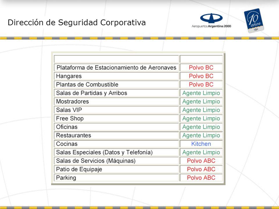 Dirección de Seguridad Corporativa Extinguidores Manuales