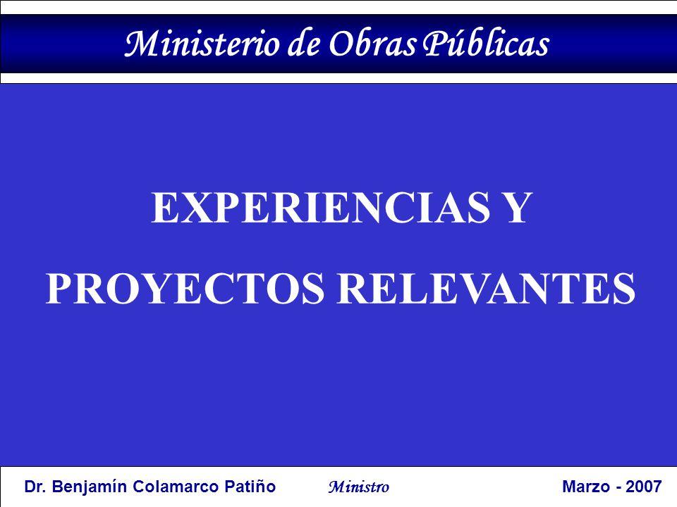 EXPERIENCIAS Y PROYECTOS RELEVANTES Dr.