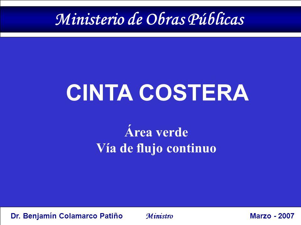 CINTA COSTERA Área verde Vía de flujo continuo Ministerio de Obras Públicas Dr.