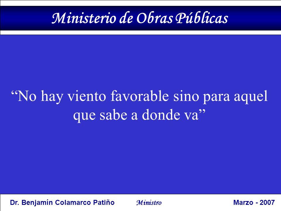 No hay viento favorable sino para aquel que sabe a donde va Ministerio de Obras Públicas Dr.