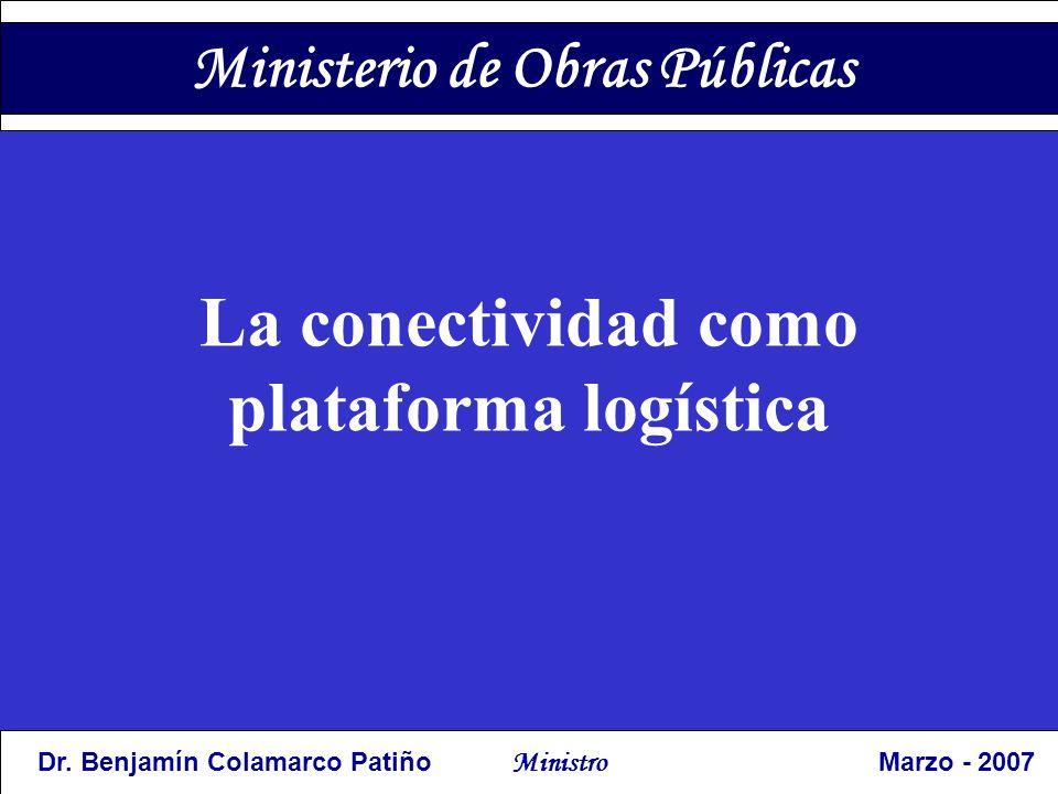 Ministerio de Obras Públicas Trabajando en Equipo; comprometidos con el Programa de Gobierno, Cumpliendo con la Constitución y la ley; Apegados a claros principios de Economía, Responsabilidad y Transparencia.