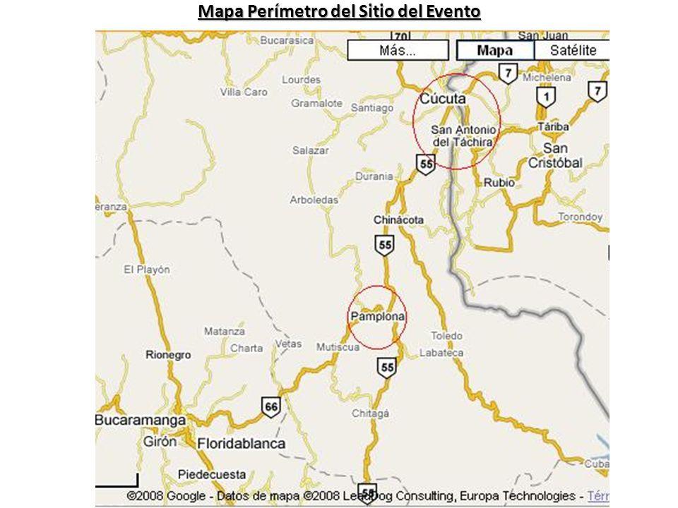 Mapa Perímetro del Sitio del Evento