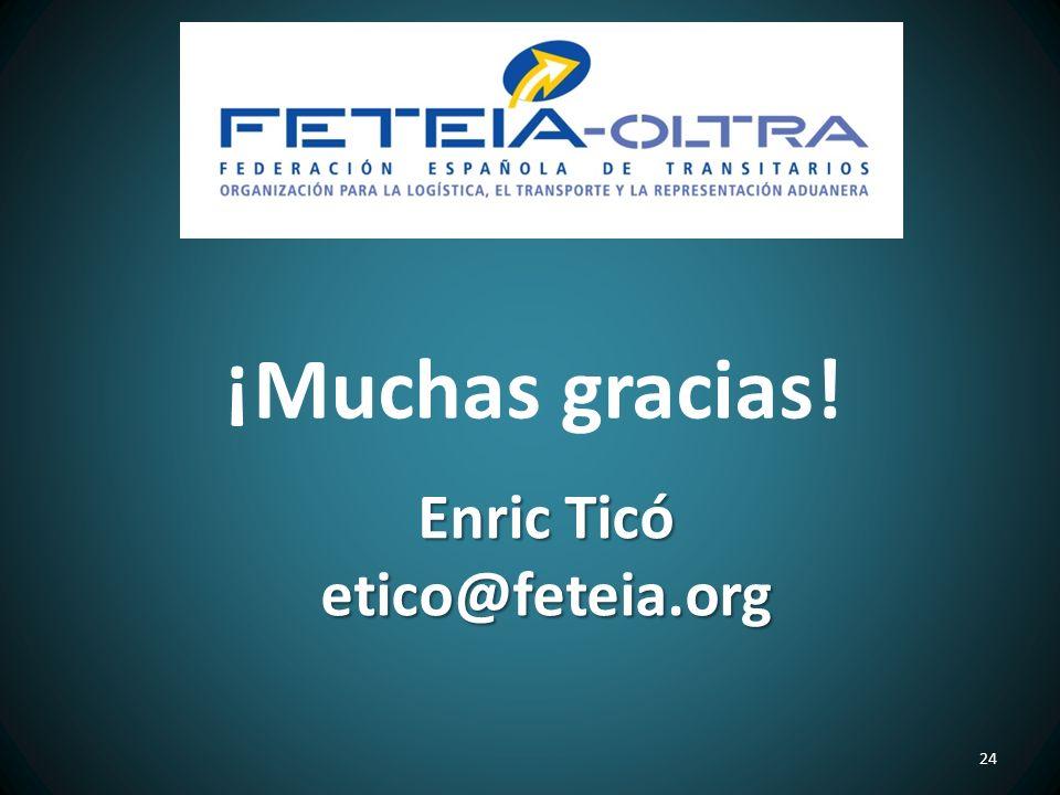 24 ¡Muchas gracias! Enric Ticó etico@feteia.org
