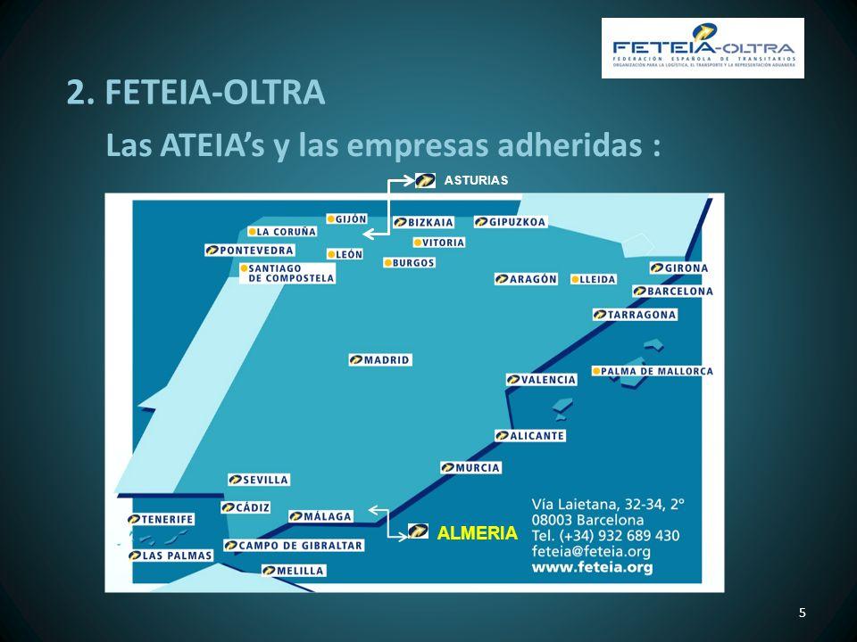 Las ATEIAs y las empresas adheridas : 5 ASTURIAS 2. FETEIA-OLTRA ALMERIA