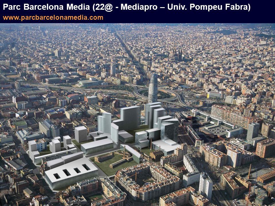 Parc Barcelona Media (22@ - Mediapro – Univ. Pompeu Fabra) www.parcbarcelonamedia.com