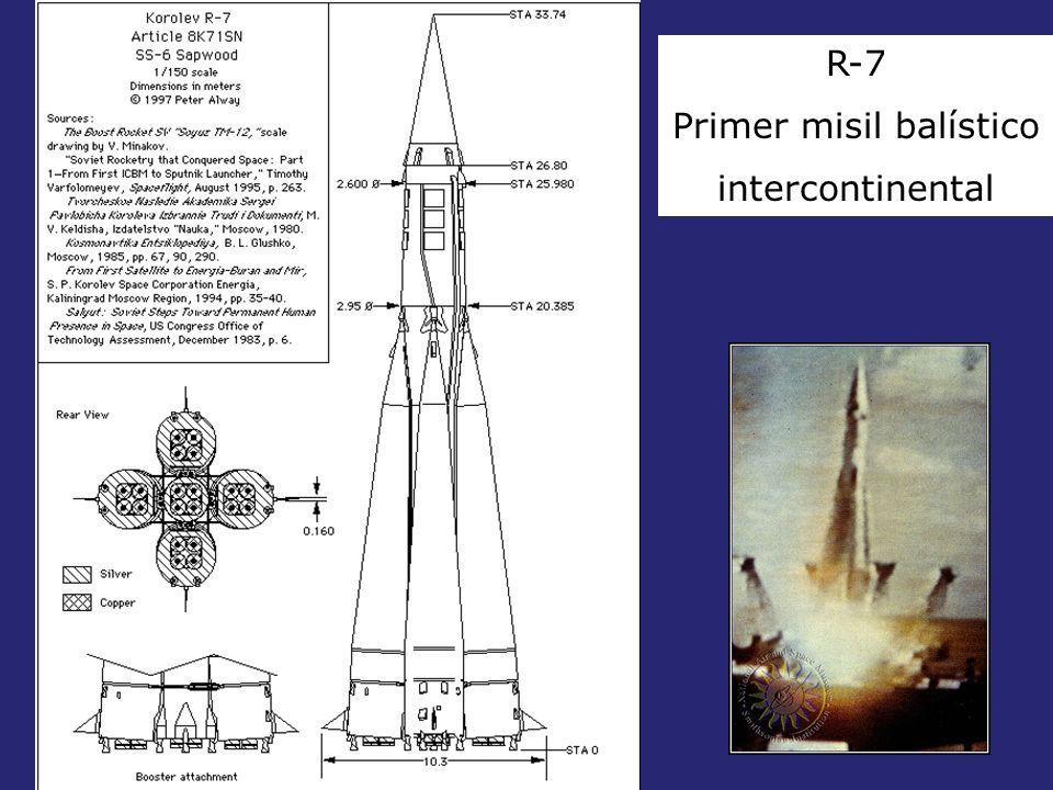 R-7 Primer misil balístico intercontinental